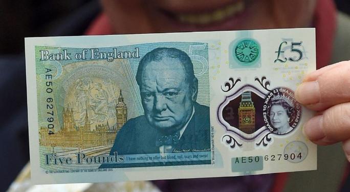 الورقة النقدية من فئة 5 جنيهات إسترليني