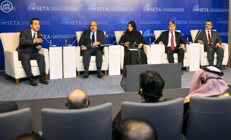 الوفد الإعلامي المرافق لـ #الملك_سلمان في #تركيا يزور مركز سيتا للدراسات3
