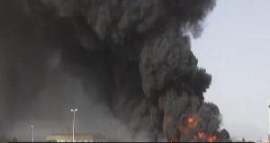 اليمن-حريق