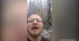 امريكي يشعل النار في الغابات