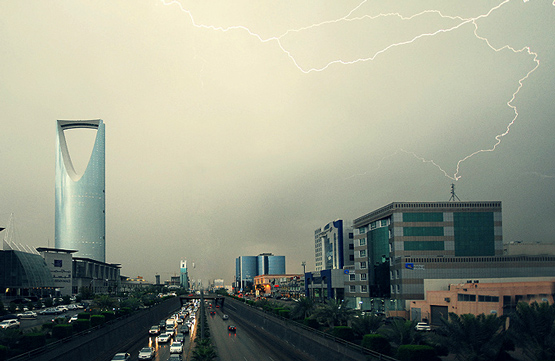امطار الرياض برق رعد
