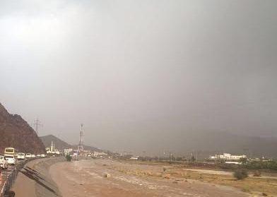 امطار غزيرة بالمدينة (2)