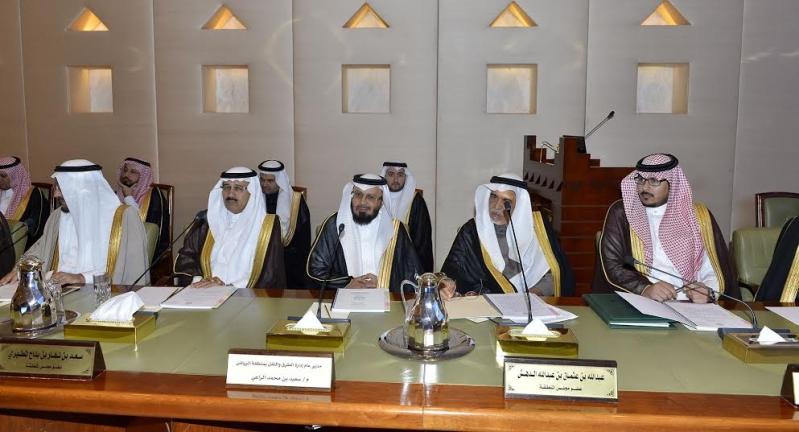امير منطقة الرياض يرآس جلسه مجلس المنطقة7