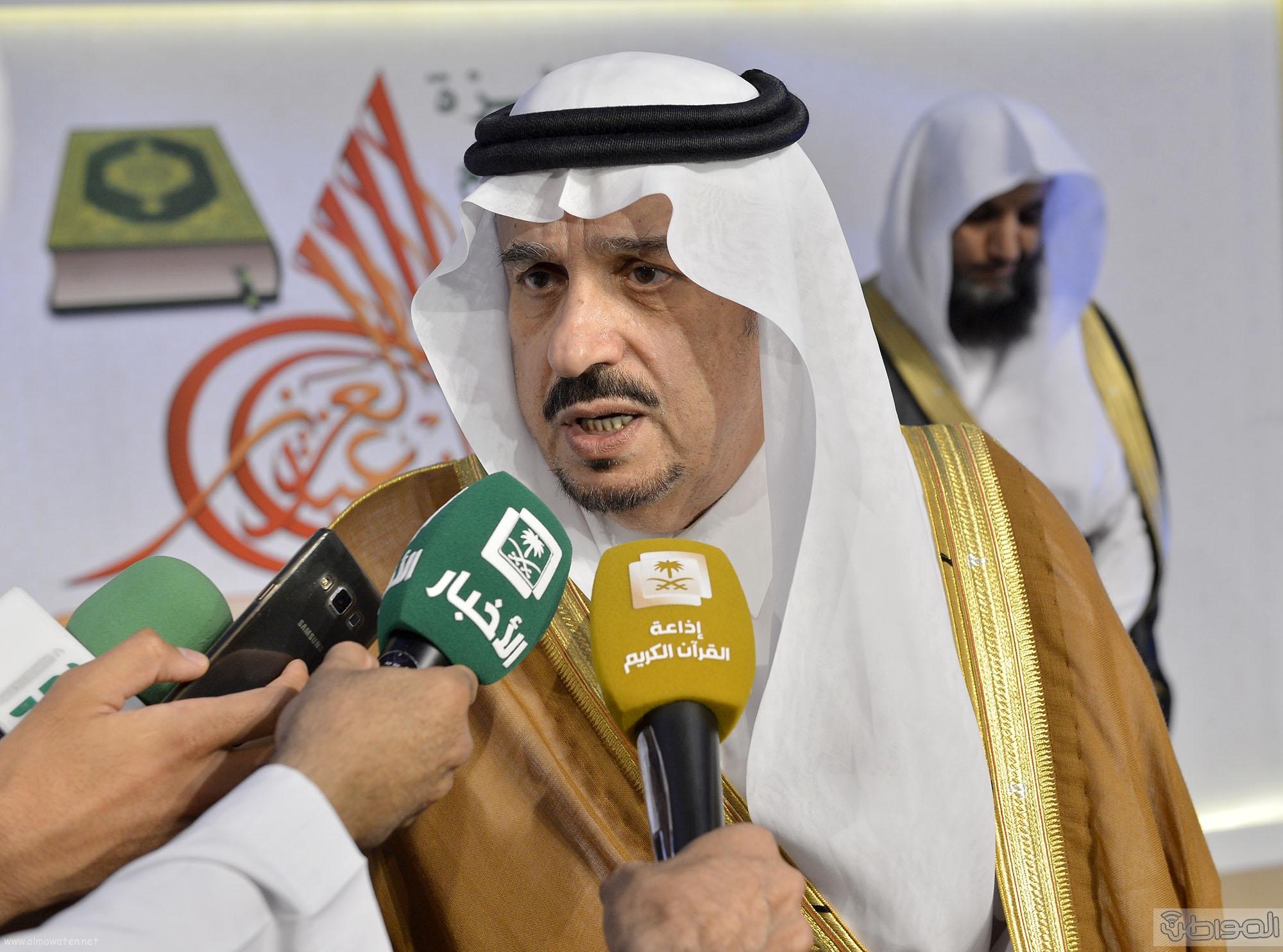 امير منطقة الرياض يرعى حفل اختتام مسابقة جائزة الملك سلمان لحفظ القران الكريم (28)