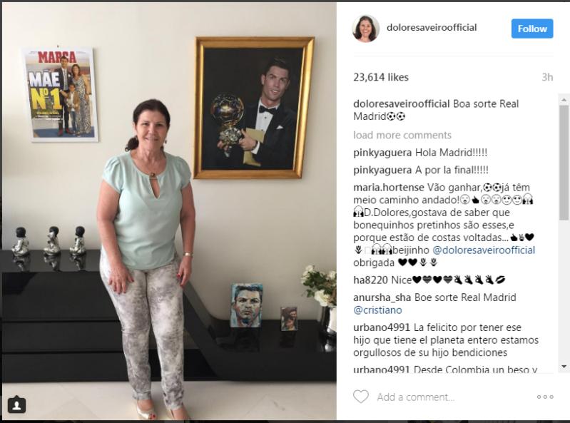والدة كريستيانو رونالدو تُحفز لاعبي الملكي قبل مواجهة اتليتكو مدريد