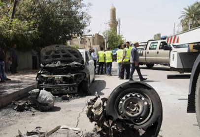 انتحاري بالكرادة بغداد