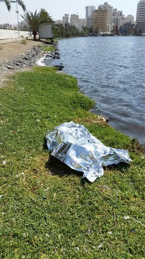 انتشال جثة امرأة سقطت في بحيرة الأربعين بـ #جدة