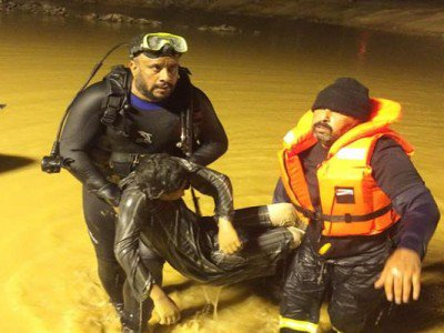 انتشال جثة شاب غرق بمياه الأمطار في #القصيم