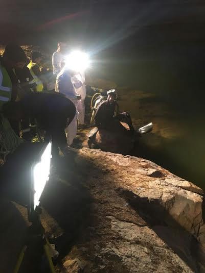 انتشال جثة عشريني بسد وادي تريمة في #نجران5