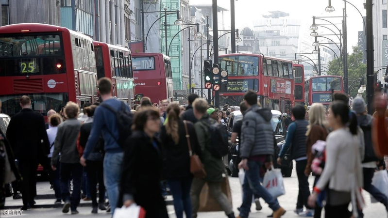 LONDON, ENGLAND - APRIL 29:  A general view of Oxford Street as commuters attempt to board buses whilst crowds flock to the area for the launch of the new Kate Moss range at Topshop on April 29, 2014 in London, England. Union members are striking for 48 hours in a dispute over management plans to close all London Underground ticket offices with a loss of nearly 1000 jobs.  (Photo by Matthew Lloyd/Getty Images)