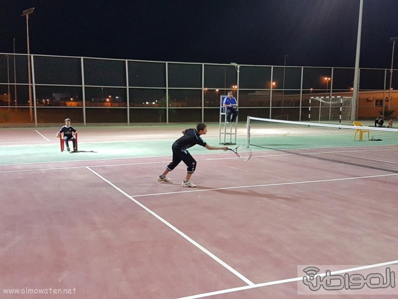 انطلاق بطولة التنس الأرضي الاولى على ملعب الاضارع (1)