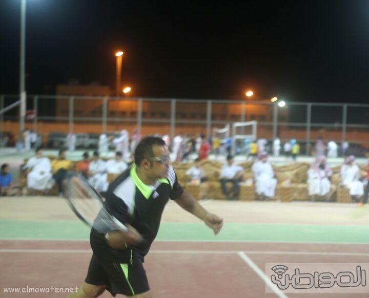 انطلاق بطولة التنس الأرضي الاولى على ملعب الاضارع (15)