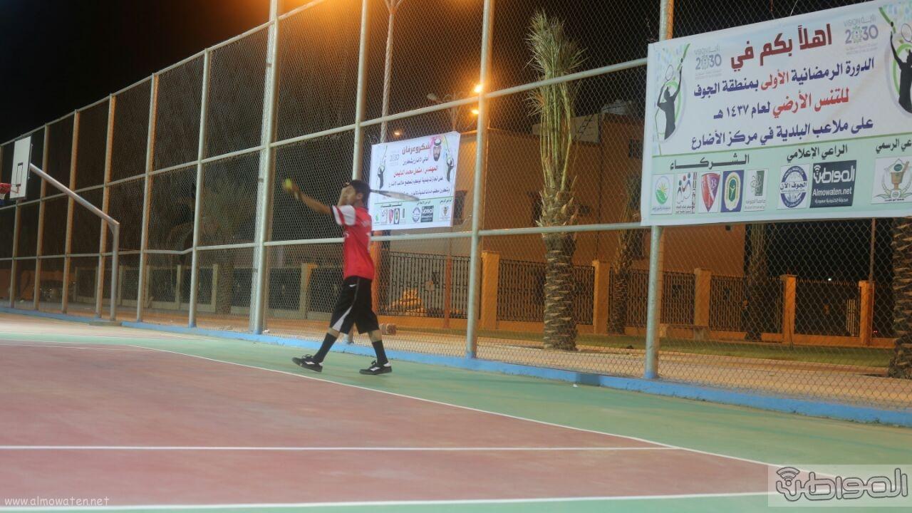انطلاق بطولة التنس الأرضي الاولى على ملعب الاضارع (18)