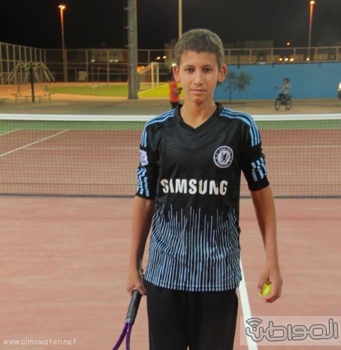 انطلاق بطولة التنس الأرضي الاولى على ملعب الاضارع (7)
