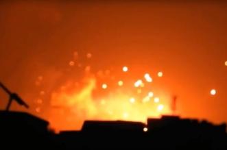 انفجارات ضخمة بمواقع لتصنيع البراميل المتفجرة بحلب