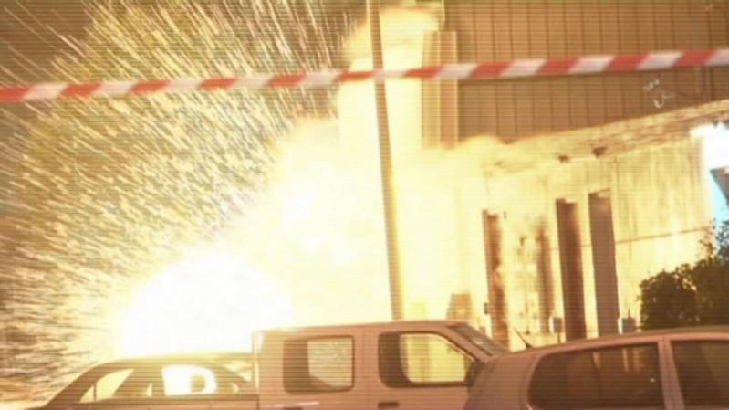 انفجار باب