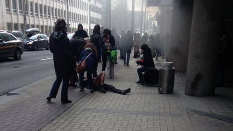انفجار بمترو بروكسل في بلجيكا