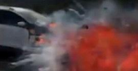 شاهد.. سائق يرصد لحظة انفجار سيارة فورد كوجا - المواطن