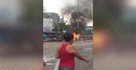 انفجار شاحنة انابيب في البرازيل