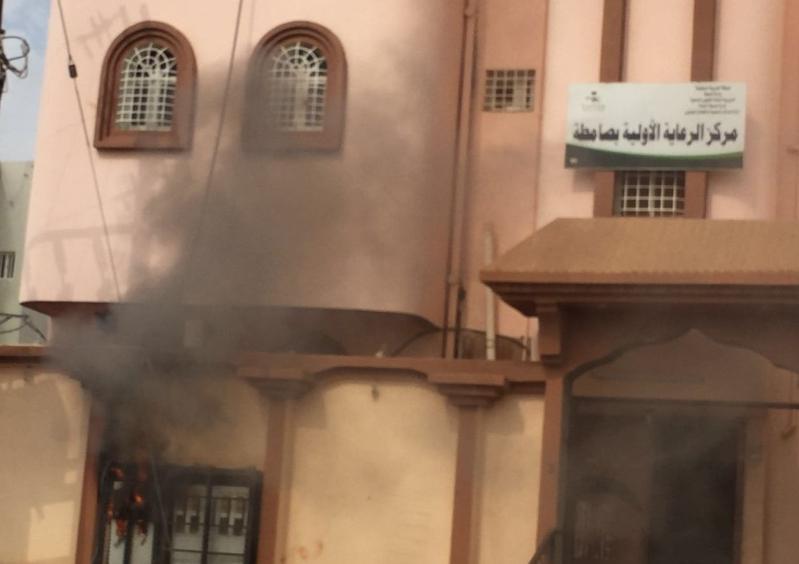 انفجار عداد يخلي مركز صحي بـصامطة (1)