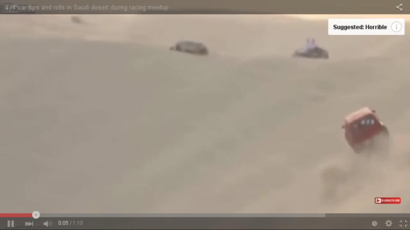 انقلاب سيارة بصحراء المملكة