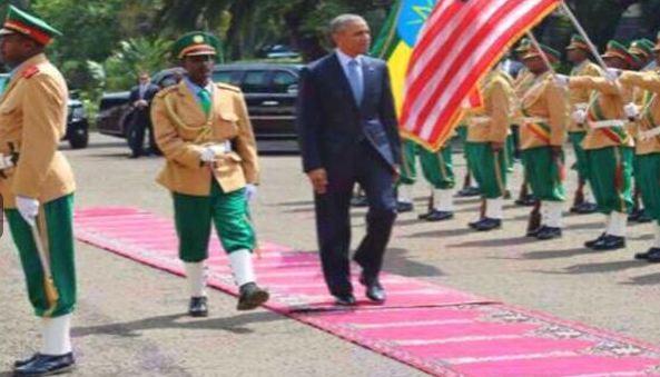 بالصور.. أقدام أوباما في أثيوبيا تثير ضجة على تويتر - المواطن