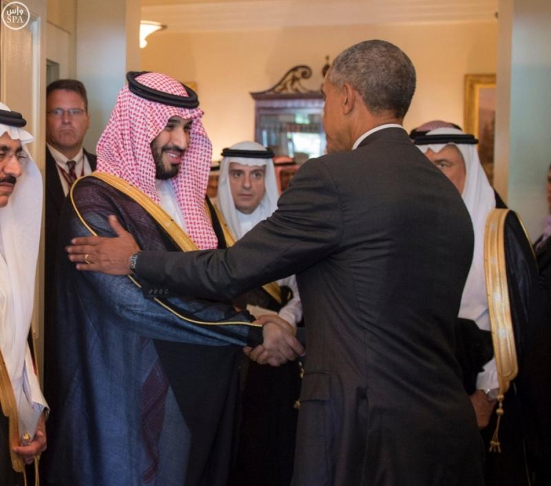 اوباما مودعا محمد بن سلمان