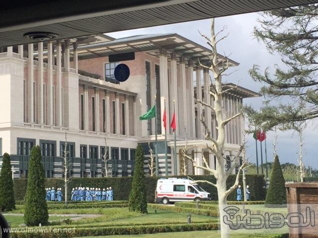 بالصور .. استعدادات لاستقبال الملك سلمان في القصر الرئاسي التركي في أنقرة (3)