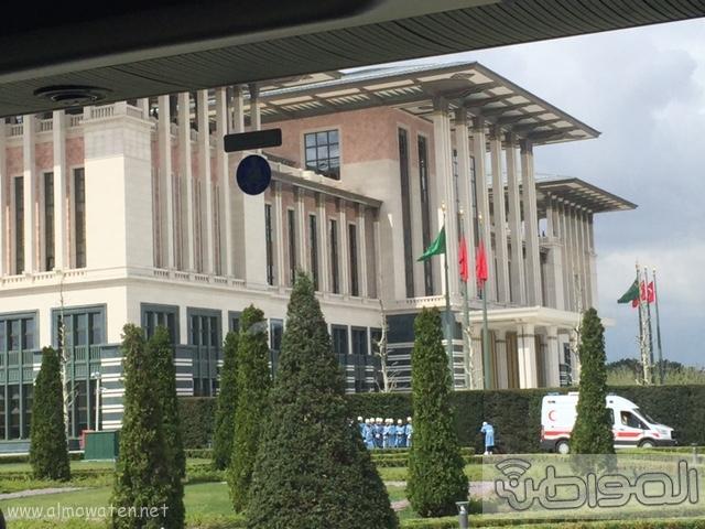 بالصور .. استعدادات لاستقبال الملك سلمان في القصر الرئاسي التركي في أنقرة (4)