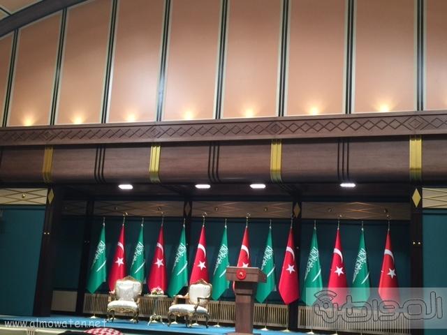 بالصور .. استعدادات لاستقبال الملك سلمان في القصر الرئاسي التركي في أنقرة (6)