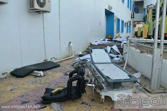بالصور.. من موقع #حريق_مستشفى_جازان_العام  كارثة ! (1)