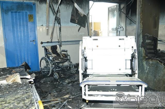 بالصور.. من موقع #حريق_مستشفى_جازان_العام كارثة ! (10)