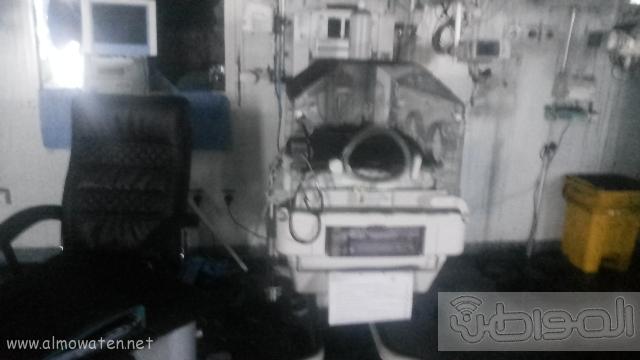بالصور.. من موقع #حريق_مستشفى_جازان_العام كارثة (12)