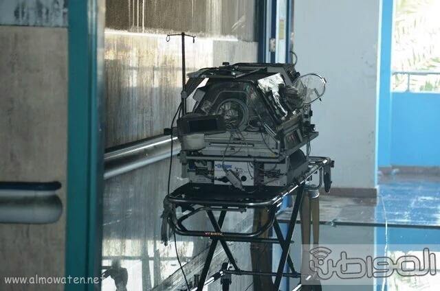 بالصور.. من موقع #حريق_مستشفى_جازان_العام كارثة (16)