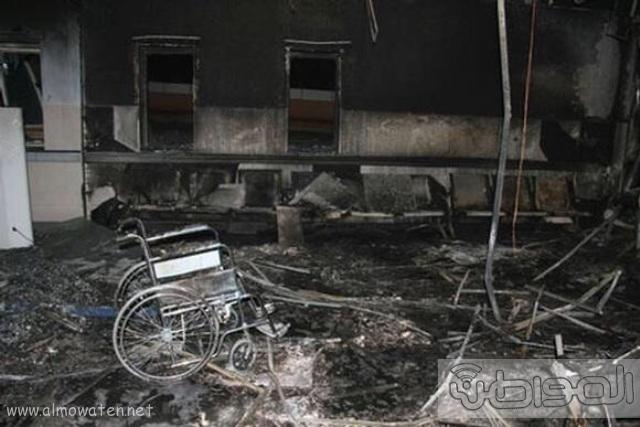 بالصور.. من موقع #حريق_مستشفى_جازان_العام كارثة (18)
