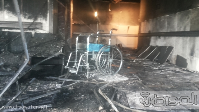 بالصور.. من موقع #حريق_مستشفى_جازان_العام كارثة (2)