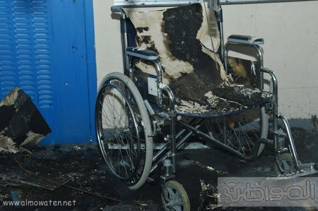 بالصور.. من موقع #حريق_مستشفى_جازان_العام كارثة ! (3)