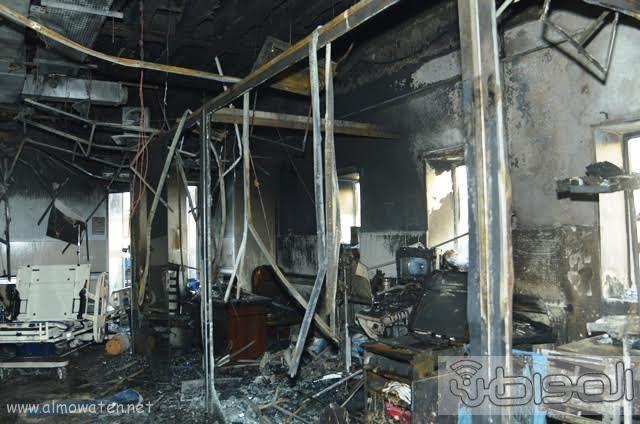 بالصور.. من موقع #حريق_مستشفى_جازان_العام كارثة ! (5)