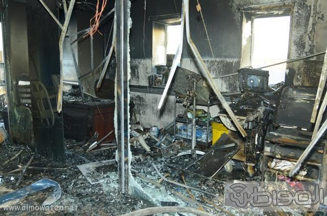 بالصور.. من موقع #حريق_مستشفى_جازان_العام كارثة ! (6)