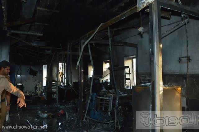 بالصور.. من موقع #حريق_مستشفى_جازان_العام كارثة ! (7)