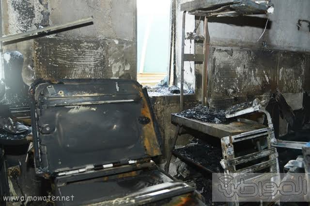 بالصور.. من موقع #حريق_مستشفى_جازان_العام كارثة ! (8)