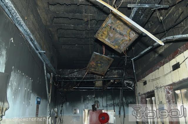 بالصور.. من موقع #حريق_مستشفى_جازان_العام كارثة ! (9)