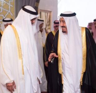 بحضور الملك وولي عهد أبو ظبي توقعان محضر انشاء مجلس التنسيق السعودي2
