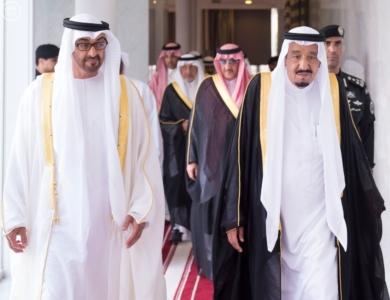 بحضور الملك وولي عهد أبو ظبي توقعان محضر انشاء مجلس التنسيق السعودي3