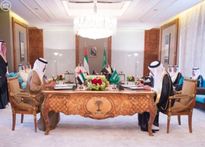 بحضور الملك وولي عهد أبو ظبي توقعان محضر انشاء مجلس التنسيق السعودي4