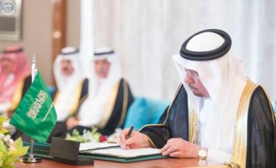 بحضور الملك وولي عهد أبو ظبي توقعان محضر انشاء مجلس التنسيق السعودي6