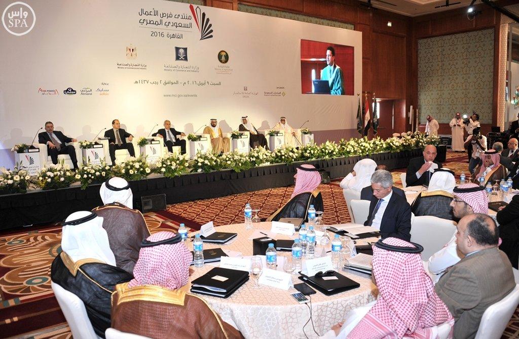 بدء أعمال منتدى فرص الأعمال السعودي المصري بالقاهرة (7)