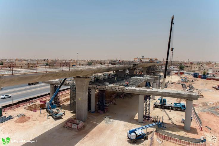 بدء ظهور مَعَالِم المحطات العُلْويّة لقطار الرياض (549315454) 