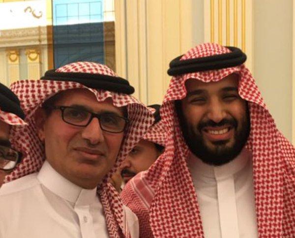 برجس حمود البرجس والأمير محمد بن سلمان