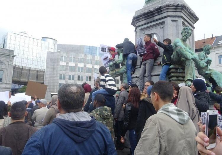 تظاهرات احتجاجية وسط بروكسل تنديدًا بمجازر الروهينجا